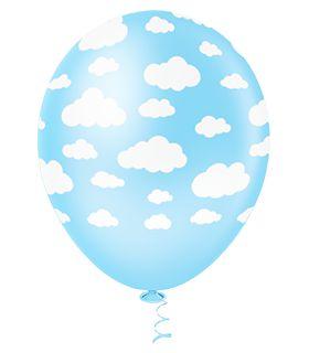 Balão Nuvem Azul Sortido PICPIC 10'' c/25 Unid. - Maricota Festas