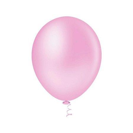 Balão Rosa BABY PICPIC 9'' c/50 Unid. - Maricota Festas