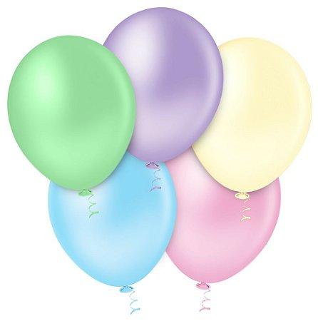 Balão Sortido Candy PICPIC 9'' c/50 Unid. - Maricota Festas