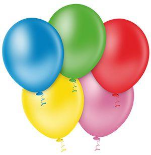 Balão Sortido PICPIC 9'' c/50 Unid. - Maricota Festas