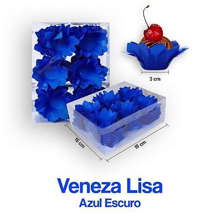 Forminha Veneza para Docinhos Azul Escura c/40 Unid. - Maricota Festas