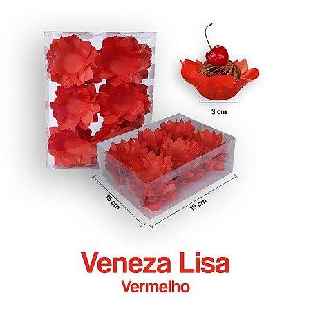 Forminha Veneza para Docinhos Vermelho c/40 Unid. - Maricota Festas