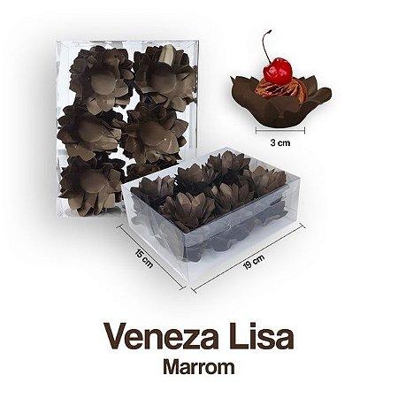 Forminha Veneza para Docinhos Marrom c/40 Unid. - Maricota Festas