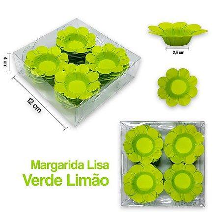 Forminha Margarida para Docinhos Verde Limão c/40 Unid. - Maricota Festas