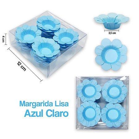 Forminha Margarida para Docinhos Azul Claro c/40 Unid. - Maricota Festas
