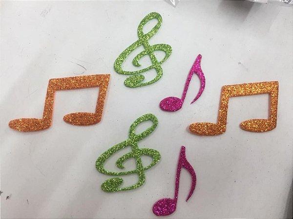 Aplique em EVA NOTAS MUSICAIS SORTIDA - 6 UNID. - Maricota Festas