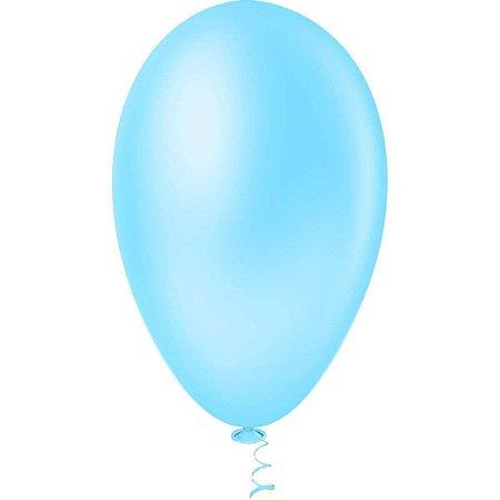 Balão AZUL CLARO PICPIC Redondo 9'' c/50 Unid. - Maricota Festas