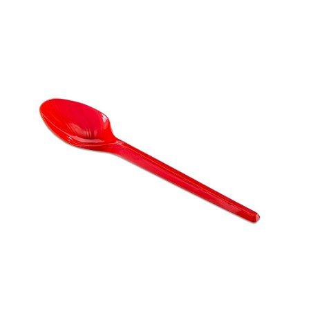 Colher Sobremesa Vermelho C/50 Unidades - Maricota Festas