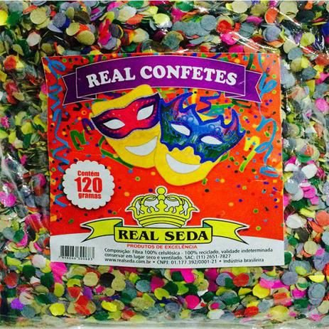 Confete carnaval  120GR. - Real Seda - MARICOTA FESTAS