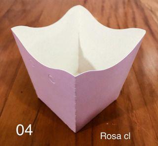 Cachepot Pequeno de Papel ROSA CLARO C/10 - Unidade. Maricota Festas