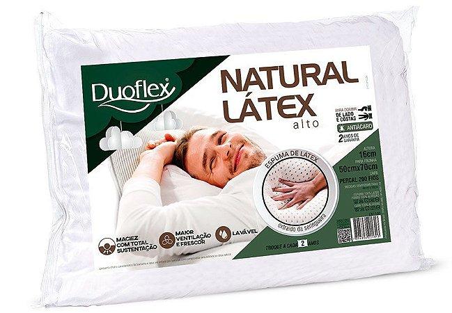 Travesseiro Natural Látex Alto Duoflex