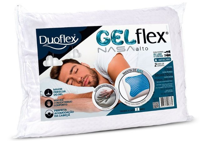 Travesseiro Gelflex Nasa Alto Duoflex