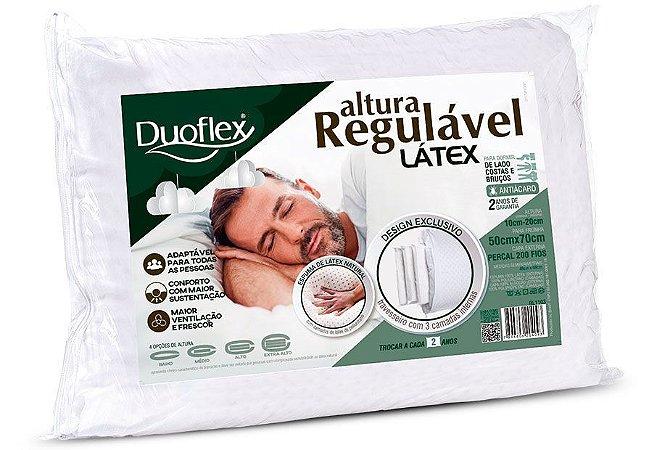 Travesseiro Altura Regulável Látex Duoflex