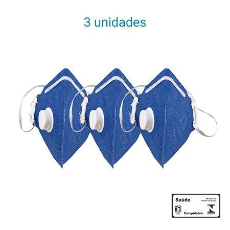 Máscara Respiratória PFF1 S Com Válvula - Carbografite CG 411V - Pack com 3 unidades
