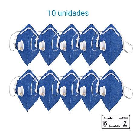 Máscara Respiratória PFF1 S Com Válvula - Carbografite CG 411V - Pack com 10 unidades