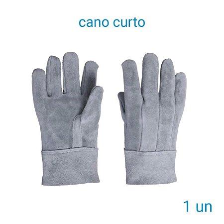 Luva De Raspa Couro Cano Curto - 1 Par