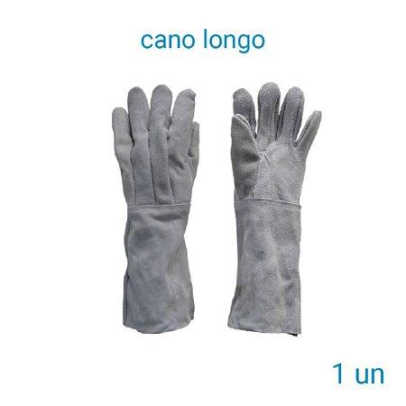 Luva De Raspa Couro Cano Longo - 1 Par