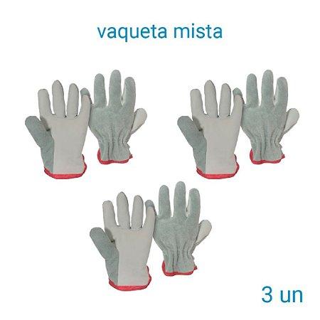 Luva Vaqueta Mista - 3 Pares