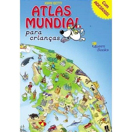 Atlas Mundial para Crianças com Adesivos