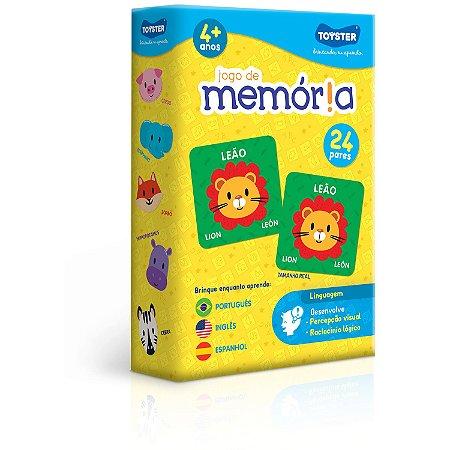 Jogo de Memória (português, inglês e espanhol)