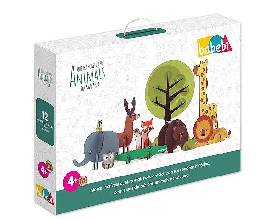 Quebra-Cabeça 3D - Animais da savana