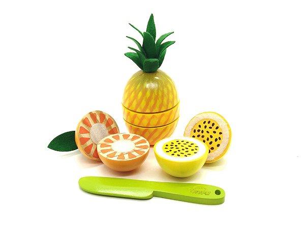 Kit Frutas com corte 3 Peças
