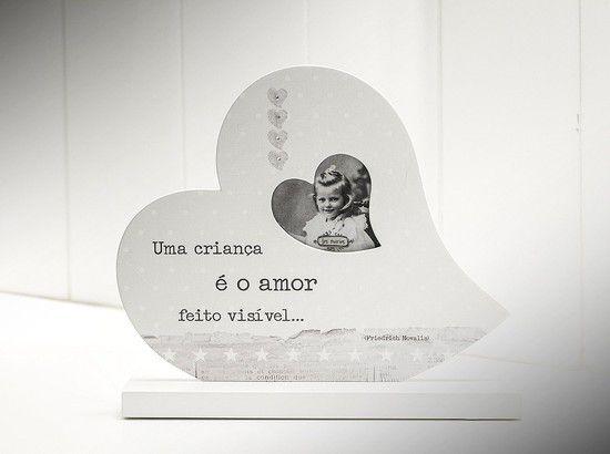 Porta Retrato de Mesa - Coração