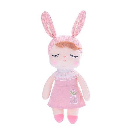 Mini Metoo Doll Angela Jardineira Rosa Salmão