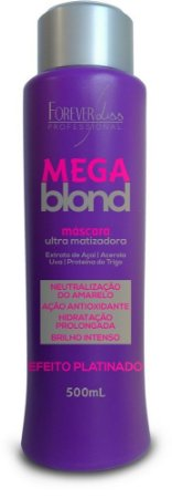 Mega Blond Máscara Ultra Matizadora 500ml - Forever Liss