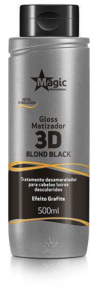 Gloss Matizador 3D Blond Black Efeito Grafite 100ml - Magic Color