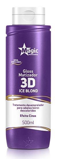 Gloss Matizador 3D Ice Blonde Efeito Cinza 500ml - Magic Professional