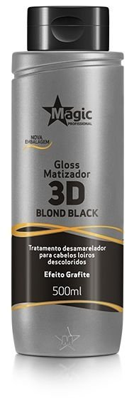 Gloss Matizador 3D Blond Black Efeito Grafite 500ml - Magic Professional
