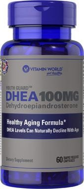 DHEA 100MG (60 CÁPSULAS) - VITAMIN WORLD