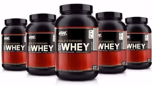 Combo 5 Unidades Whey Protein Gold Standard (909g) - Optimum Nutrition