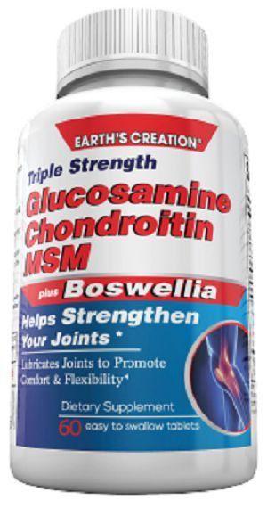 Glucosamina + Condroitina plus MSM (60 Tabletes) - Earth's Creation