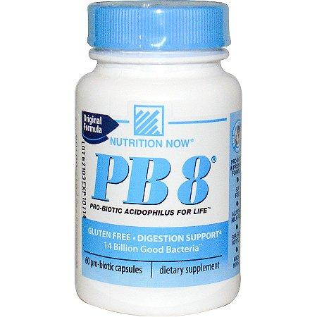 PB8 Probiótico (60 Cápsulas) - Nutrition Now Vitamins