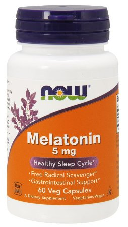Melatonina 5mg (60 Cápsulas) - Now Foods