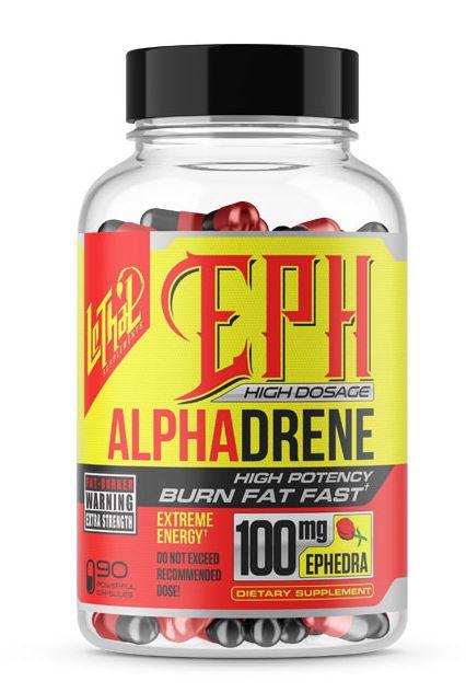 Alphadrene 100mg EPH (90 Cápsulas) - Lethal Supplements