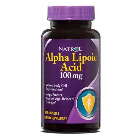 Ácido Alfa Lipóico 100mg (100 Cápsulas) - Natrol