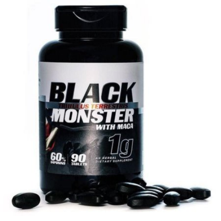 Tribulus Terrestris 1000mg Black Monster c/Maca 90 tabs - Super Nutrition