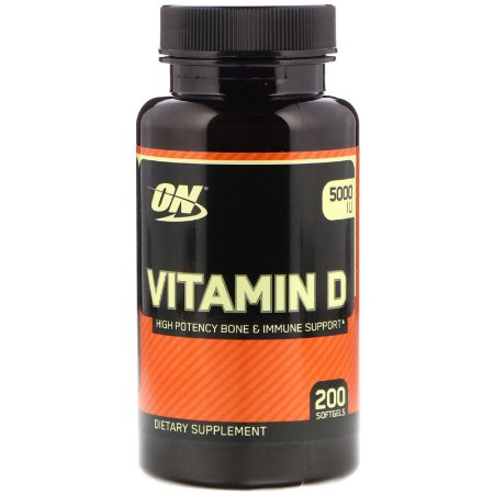 Vitamina D 5000ui (200 softgel) - Optimum Nutrition