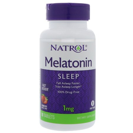 Melatonina 1mg Fast Dissolve sublingual 90 Tabletes - Natrol
