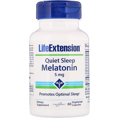 Melatonina Quiet Sleep 5mg 60 Cápsulas Life Extension