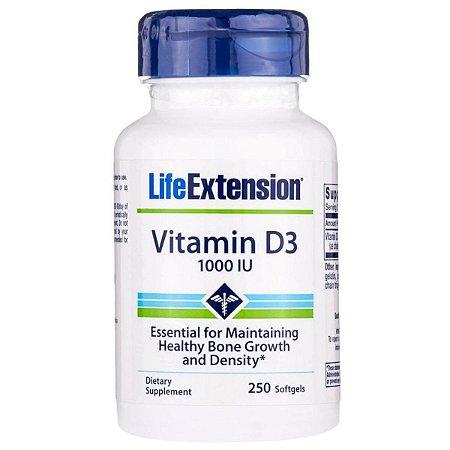 Vitamina D3 1000ui 250 softgels - Life Extension