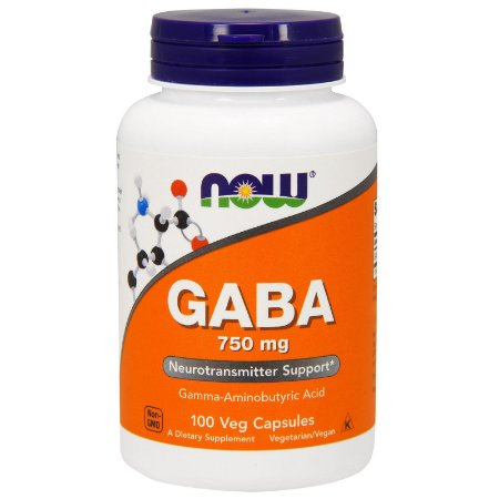 GABA 750 MG 100 Cápsulas - Now Foods