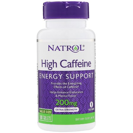 Cafeína High 200mg 100 Tabs Natrol