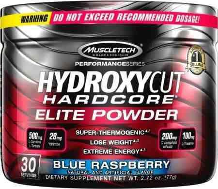 Hydroxycut Hardcore Elite Powder 30 doses 77g Muscletech