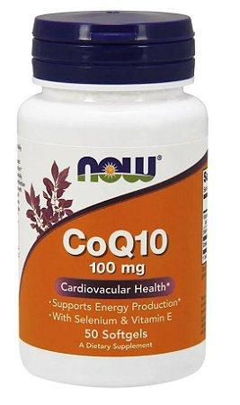 Coenzima Q10 Coq-10 100mg 50 Sofgels Now Foods