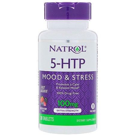5-HTP 100mg Dissolução Rápida Sublingual 30 Tabs Natrol