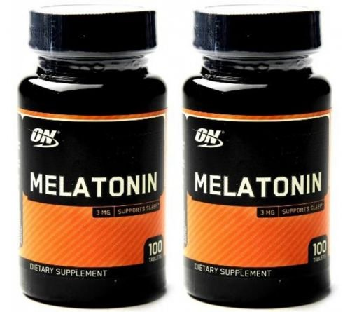Kit 2 Melatonina ON 3mg 100 Cápsulas Optimum Nutrition